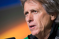 Sporting de Lisboa coach Jorge Jesus during press conference the day before Europa League match between Atletico de Madrid and Sporting de Lisboa at Wanda Metropolitano in Madrid, Spain. April 04, 2018. (ALTERPHOTOS/Borja B.Hojas)