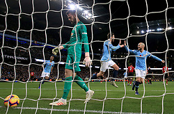 File photo dated 11-11-2018 of Manchester United goalkeeper David de Gea (left) appears dejected after Manchester City's Ilkay Gundogan (not in picture) scores his side's third goal of the game during the Premier League match at the Etihad Stadium, Manchester.