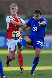 6th January 2018 - FA Cup - 3rd Round - Fleetwood Town v Leicester City - Kyle Dempsey of Fleetwood battles with Matthew James of Leicester - Photo: Simon Stacpoole / Offside.