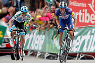 Enric Mas (ESP - QuickStep - Floors) - Miguel Angel Lopez (COL - Astana Pro Team) during the 73th Edition of the 2018 Tour of Spain, Vuelta Espana 2018, 20th stage Andorra Escaldes Engordany - Coll de la Gallina 97.3 km on September 15, 2018 in Spain - Photo Luca Bettini / BettiniPhoto / ProSportsImages / DPPI