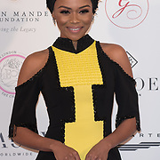 Bonang M Arrive The Nelson Mandela Foundation hosts dinner in memory of Nelson Mandela on what would have been the day before his 100 birthday on 24 April 2018 at Rosewood Hotel, London, UK.