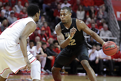 20 March 2017:  Matt Williams matches up with MiKyle McIntosh(11) during a College NIT (National Invitational Tournament) 2nd round mens basketball game between the UCF (University of Central Florida) Knights and Illinois State Redbirds in  Redbird Arena, Normal IL
