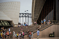 Harbour Bridge Flags & Opera House Steps