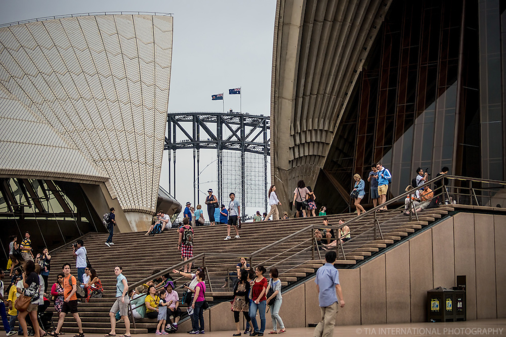 Harbour Bridge Flags & Opera House Steps