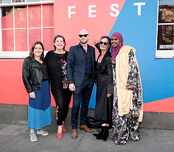 Edinburgh International Film Festival 2019<br /> <br /> A Girl From Mogadishu (International Premiere)<br /> <br /> Pictured: Ifrah Ahmed (r) and Mary McGuckian (Director, 2nd right)<br /> <br /> Aimee Todd   Edinburgh Elite media