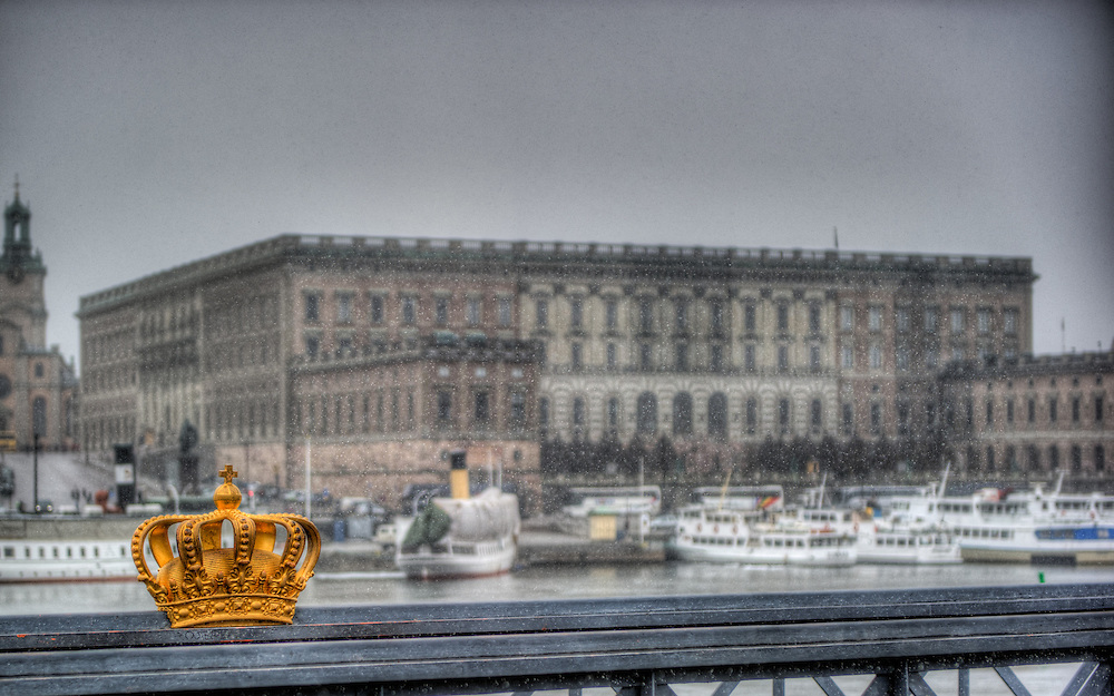 The royal palace from the Skeppsholmsbron
