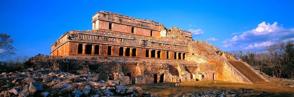 MEXICO, MAYAN, YUCATAN Sayil, El Palacio in Puuc style, 600-900AD