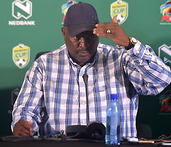 SOUTH AFRICA: JOHANNESBURG: South African soccer legend and Jomo cosmos coach Jomo Sono speak during the Nedbank cup press conference, Gauteng. <br />Picture: Itumeleng English/African News Agency(ANA)<br />23.01.2019