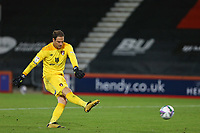 Football - 2019 / 2020 EFL Cup - Round 2 -AFC Bournemouth vs. Crystal Palace <br /> <br /> Bournemouth's Asmir Begovic has his penalty saved to give Crystal Palace the opportunity to win the tie at the Vitality Stadium (Dean Court) Bournemouth  <br /> <br /> COLORSPORT/SHAUN BOGGUST