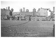 RGS 2-8-0 #6 in scrap line in Alamosa, CO.<br /> RGS  Alamosa, CO  5/8/1938