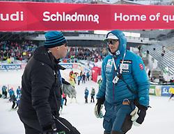 24.01.2017, Planai, Schladming, AUT, FIS Weltcup Ski Alpin, Schladming, Slalom, Herren, im Bild Markus Waldner (FIS Chef Renndirektor Weltcup Ski Alpin Herren), Christian Mitter (Norwegens Ceftrainer Alpin Skiteam Herren) // Markus Waldner Chief Race Director World Cup Ski Alpin Men of FIS Christian Mitter Coach Norway Men's Alpine Ski Team before the 1st run of men's Slalom of FIS ski alpine world cup at the Planai in Schladming, Austria on 2017/01/24. EXPA Pictures © 2017, PhotoCredit: EXPA/ Johann Groder