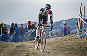 SHOT 1/12/14 4:19:45 PM - Jeremy Powers (#3) of Easthampton, Ma. competes in the Men's Elite race at the 2014 USA Cycling Cyclo-Cross National Championships at Valmont Bike Park in Boulder, Co. Powers won the event with a time of 59:16.  (Photo by Marc Piscotty / © 2014)