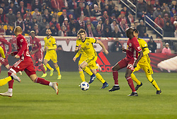 STYLEPREPENDGaston Sauro (22) of Columbus Crew SC controls ball during 2nd leg MLS Cup Eastern Conference semifinal game against Red Bulls at Red Bul Arena Red Bulls won 3 - 0 agregate 3 - 1 and progessed to final  (Credit Image: © Lev Radin/Pacific Press via ZUMA Wire)