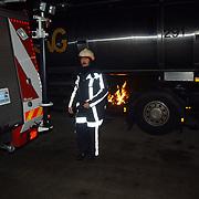 Buitenbrand bij tankwagen Aristoteleslaan Huizen, hans Horstmeijer