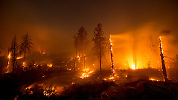 July 26, 2018 - Idyllwild, California, U.S - The Cranston Fire continues to burn early into Thursday morning July 26, 2018 in Idyllwild California. The fire has grown to over 4,700 acres and is five percent contained. Over 3,000 people have been evacuated from 2,174 homes and five structures have been destroyed. (Credit Image: © Kevin Warn via ZUMA Wire)