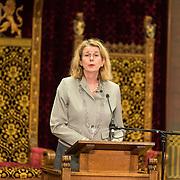NLD/Den Haag/20171221 - Koning bij sluitingsceremonie Joegoslavie tribunaal, Pauline Krikke