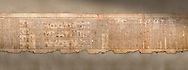 """Ancient Egyptian Book of the Dead papyrus - Spell 105 for gratifying the deceased with Ka, Iufankh's Book of the Dead, Ptolemaic period (332-30BC).Turin Egyptian Museum <br /> <br /> The spell is """" Hail to thee, my spirit, my lifetime. Behold I am come unto thee risen, powerful, posessed of a soul, mighty.<br /> <br /> You who weighs in the balance. may truth rise to the nose of Ra, on that day of judgement, ley not my head be taken away from me.""""<br /> <br /> The translation of  Iuefankh's Book of the Dead papyrus by Richard Lepsius marked a truning point in the studies of ancient Egyptian funereal studies. .<br /> <br /> If you prefer to buy from our ALAMY PHOTO LIBRARY  Collection visit : https://www.alamy.com/portfolio/paul-williams-funkystock/ancient-egyptian-art-artefacts.html  . Type -   Turin   - into the LOWER SEARCH WITHIN GALLERY box. Refine search by adding background colour, subject etc<br /> <br /> Visit our ANCIENT WORLD PHOTO COLLECTIONS for more photos to download or buy as wall art prints https://funkystock.photoshelter.com/gallery-collection/Ancient-World-Art-Antiquities-Historic-Sites-Pictures-Images-of/C00006u26yqSkDOM"""