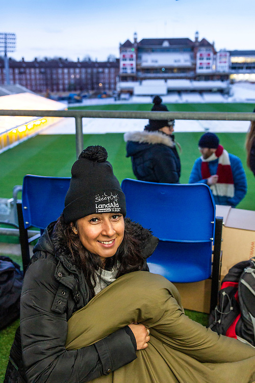 Landaid Sleepout<br /> early morning<br /> The oval 27/2/20