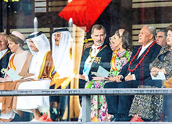 Sultan Hassanal Bolkiah of Brunei and his son, King Willem-Alexander and Queen Maxima of the Netherlands, King Carl Gustaf XI and Crown Princess Victoria of Sweden, King Felipe VI and Queen Letizia of Spain, Prince Haakon of Norway, Prince Albert II of Monaco, King Phillipe and Queen Mathilde of Belgium during the Accession to the Throne of His Majesty the Emperor of Japan Naruhito, at the Imperial Palace in Tokyo, Japan. 22 Oct 2019 Pictured: Sultan Hassanal Bolkiah of Brunei and his son, King Willem-Alexander and Queen Maxima of the Netherlands, King Carl Gustaf XI and Crown Princess Victoria of Sweden, King Felipe VI and Queen Letizia of Spain, Prince Haakon of Norway, Prince Albert II of Monaco, King Phillipe and Queen Mathilde of Belgium. Photo credit: MEGA TheMegaAgency.com +1 888 505 6342