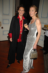 Left to right, SARA CARELLO and ALEXANDRA HOMAN at a dinner hosted by the Italian Ambassador for the Buccellati family held at the Italian Embassy, Grosvenor Square, London on 28th March 2007.<br /><br />NON EXCLUSIVE - WORLD RIGHTS