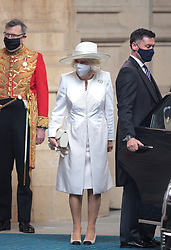 The Duchess of Cornwall arrives for the State Opening of Parliament by the Queen, in the House of Lords at the Palace of Westminster in London. Picture date: Tuesday May 11, 2021.