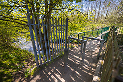 © Licensed to London News Pictures . 24/04/2021. Leigh , UK . GV of the area where it's understood the incident took place . Police say a 14 year old girl was pulled in to bushes and raped when she was walking through Westleigh Park on the afternoon of 22nd April 2021 . Photo credit : Joel Goodman/LNP