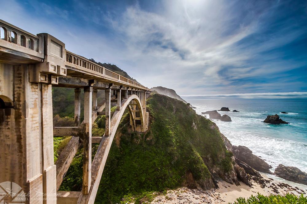 Rocky Creek Bridge on Highway 1, along the Big Sur coast of California