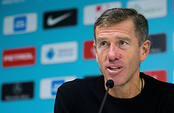 Srecko Katanec, head coach of Slovenia at press conference after the football match between National teams of Slovenia and England in Round #3 of FIFA World Cup Russia 2018 Qualifier Group F, on October 11, 2016 in SRC Stozice, Ljubljana, Slovenia. Photo by Vid Ponikvar / Sportida