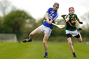 Leinster Minor Hurling Championship at Trim, Co. Meath, 25th April 22015.<br /> Meath vs Laois<br /> Jack Delaney (Meath) & Aaron Dunphy (Laois)<br /> Photo: David Mullen / www.cyberimages.net / 2015