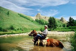 Chancy Wheeldon, horseback, fishing, Jackson Hole Wyoming.