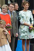 Koningsdag in Dordrecht / Kingsday in Dordrecht<br /> <br /> Op de foto / On the photo: Prins Constantijn en prinses Laurentien met Prinses Marilene