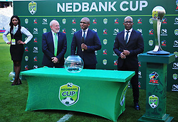 Cape Town--180401  The Nedbank cup semi final draw was also congucted after the Cape Town City vs Mamelodi Sundowns game at the Cape Town Stadium.Kaizer Chiefs will host Free State Stars and Maritzburg will host Sundown on the weekend of 20 april .Photographer;Phando Jikelo/African News Agency/ANA