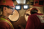 China / Hong Kong /<br /> <br /> MTR West Island Line Tunnels construction site <br /> <br /> © Daniele Mattioli China Corporate Photographer for Bouygues/Dragages