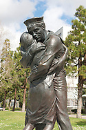 Sculpture of Sailor and family near USS Midway Museum