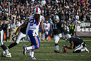 Oakland Raiders kicker Sebastian Janikowski (11) kicks a field goal against the Buffalo Bills at Oakland Coliseum in Oakland, Calif., on December 4, 2016. (Stan Olszewski/Special to S.F. Examiner)