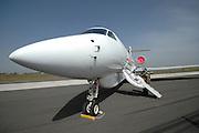 Israel, Tel Nof IAF Base, An Israeli Air force (IAF) exhibition Israeli Air force Gulfstream V executive jet