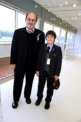 SIR SALMAN RUSHDIE and his son MILAN at the 2008 Hennessy Gold Cup held at Newbury racecourse, Berkshire on 29th November 2008.<br /> <br /> NON EXCLUSIVE - WORLD RIGHTS