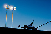 Tracy Jander of Lorena High School competes in the High Jump during the Texas Relays at the Mike A. Myers Stadium in Austin, Texas.