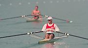 Lucerne, Switzerland. 1995 FISA WC III, Lake Rottsee, Lucerne,<br /> GER M1X. Thomas LANGE.<br /> [Mandatory Credit. Peter SPURRIER/Intersport Images]<br /> <br /> Image scanned from Colour Negative