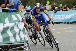 September 15, 2018 - Sant Julia De Loria, SPAIN - Spanish Enric Mas of Quick-Step Floors and Spanish David Lopez of Team Sky ride the 20th stage of the 'Vuelta a Espana', Tour of Spain cycling race, 97,3km from Escaldes-Engordany to Sant-Julia de Loria, Spain, Saturday 15 September 2018. ..BELGA PHOTO YUZURU SUNADA FRANCE OUT. (Credit Image: © Yuzuru Sunada/Belga via ZUMA Press)