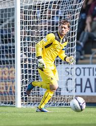 Falkirk's keeper Michael McGovern.<br /> Falkirk 3 v 0 Morton, Scottish Championship 17/8/2013.<br /> ©Michael Schofield.