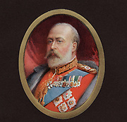 King Edward VIII of Great Britain (reigned 1901 - 1910, from a miniature by Alyn Williams
