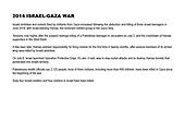 2014 Israel Gaza War