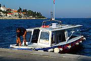 Taxi boat, or water taxi. Island of Korcula, Croatia
