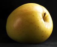 Apple on black
