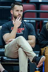 BLOOMINGTON, IL - October 23: Mike Becker during a college Women's volleyball match between the ISU Redbirds and the Drake Buldogs on October 23 2021 at Illinois State University in Normal, IL. (Photo by Alan Look)