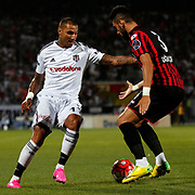 Besiktas's Quaresma (L) during their Turkish Super League soccer match Genclerbirligi between Besiktas at the 19 Mayis stadium in Ankara Turkey on Monday, 21 September 2015. Photo by Kurtulus YILMAZ/TURKPIX