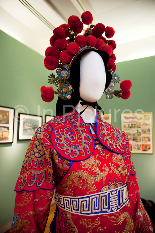 London, UK. Friday 23rd November 2012. Christies auction house showcasing memorabilia from every decade of the past century of popular culture from the industries of film and music. Chinese dancing costume as worn by Anna May Wong, the ground-breaking Asian-American movie star, as worn in the 1937 movie Daughter of Shanghai.