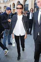 Alicia Vikander Arriving at the Louis Vuitton fashion show during fashion week in Paris, france on october 05, 2016.Photo by Nasser Berzane/ABACAPRESS