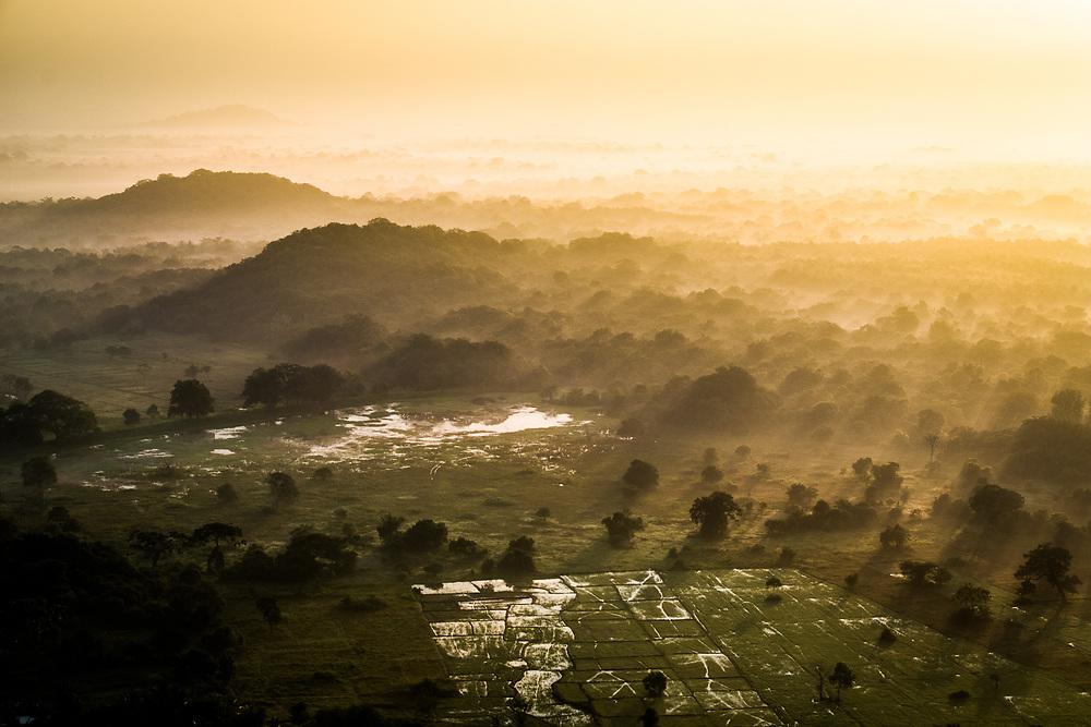 Anuradhapura, Sri Lanka. Sunrise from Mihintale